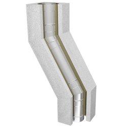 Leichtbauschornstein Schachtelement 1000 mm Verzug 30°