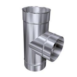 Schornsteinsanierung T-Stück 0,6 mm DN 130 90°
