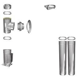 Schornstein Bausatz Silverfire Basic DW 150 3,2 m