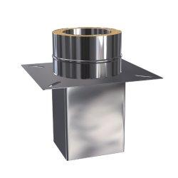 Edelstahlkamin Grundplatte für Schornsteinverlängerung