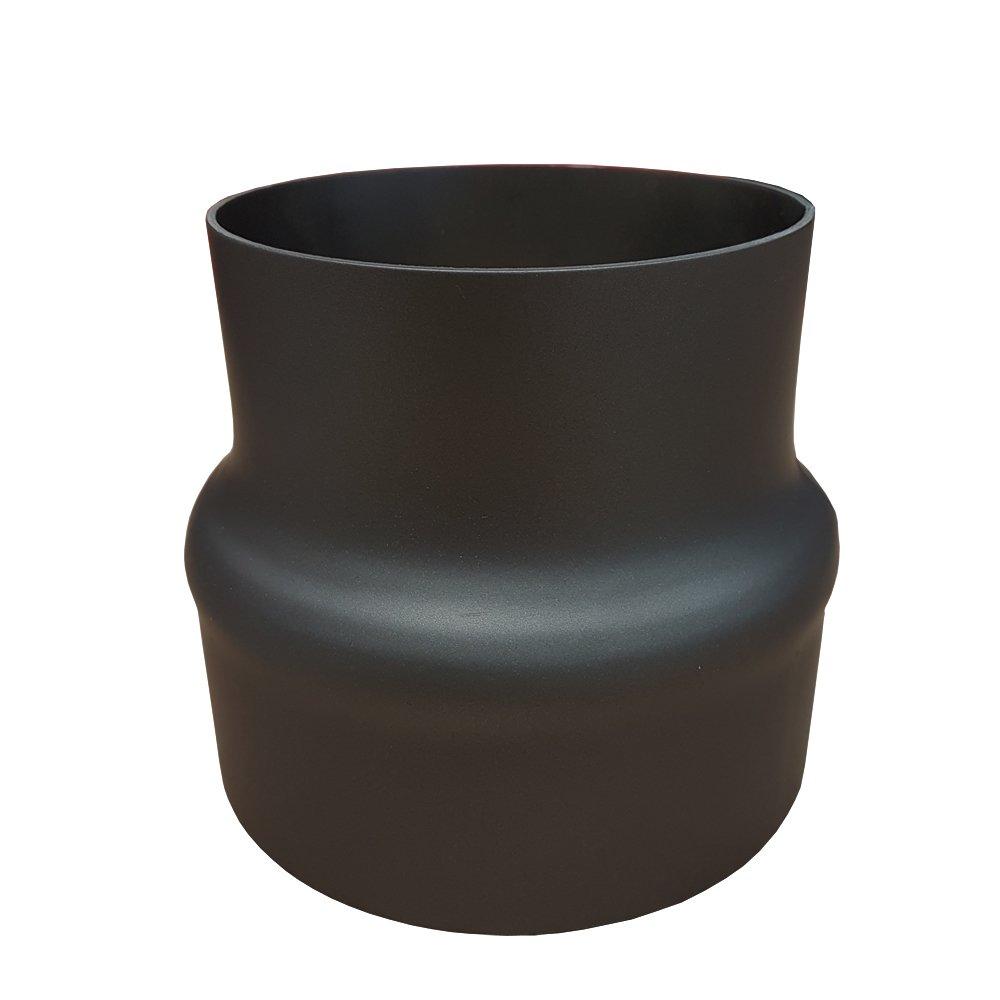 ofenrohr reduzierung 150 120 schwarz metallic. Black Bedroom Furniture Sets. Home Design Ideas