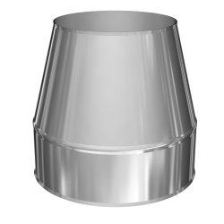 Edelstahlkamin Mündungsabschluß konisch DW 130