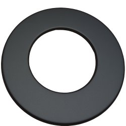 Ofenrohr Rosette DN 120 5 cm schwarz metallic