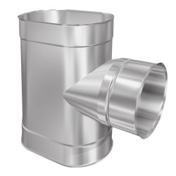 Schornsteinsanierung T-Stück 90° Oval