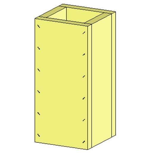 Brandschutz Schachtelement 4-Seitig