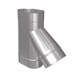 Schornsteinsanierung T-Stück 45° Oval
