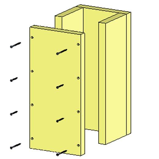 Brandschutz Schachtelement 3-Seitig