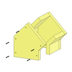 Brandschutzschacht Winkel 45° 3-Seitig F90 140 x 140 mm