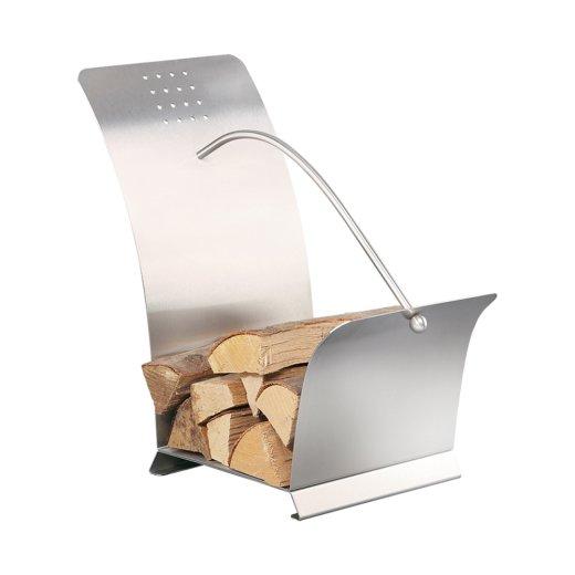 Design Holzaufbewahrung Dox 2 Edelstahl