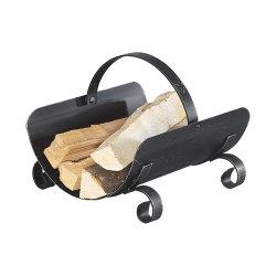 Traditionelle Holzaufbewahrung Enzian Schmiedeeisen