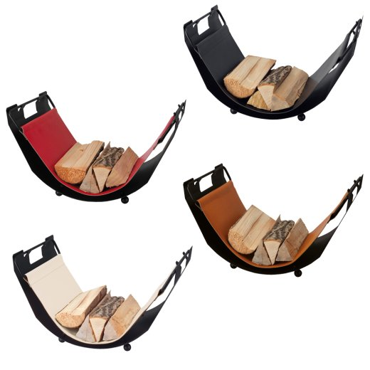 Luxus Holzlege Twist mit Ledereinlage