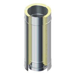 DW 25 Schornstein Edelstahlrohr doppelwandig 500 mm DW 130