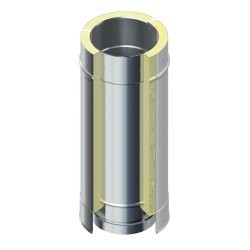 DW 25 Schornstein Edelstahlrohr doppelwandig 500 mm DW 150