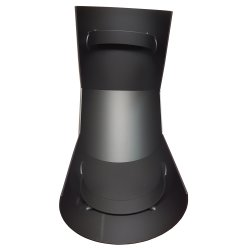 Ofenrohr Hitzeschutzschild für Bogen 90° oberhalb