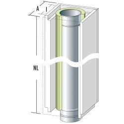 Raab Leichtbauschornstein Universal Grundpaket 3 Höhe 4,8 m mit Kondensatgefäß