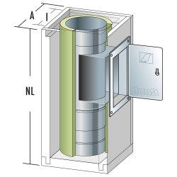 Schachtelement 600 mm mit Fuß und Reinigung 140/200