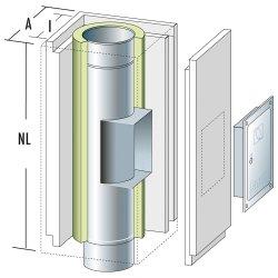 Schachtelement 600 mm mit Reinigung 140/200 mit Dehnung