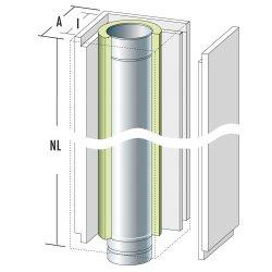 Schachtelement 1200 mm mit Edelstahlrohr und Dämmung...