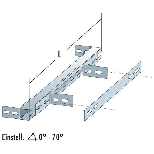 SYSTEM-WANDHALTER AUS EDELSTAHL