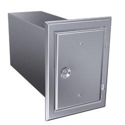 Edelstahltür 120x180 mm + Kastenverlängerung 60 mm