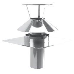 LAS konzentrisch Schachtabdeckung Kombi 80/125 mm