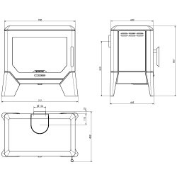 Wamsler Kaminofen F-Box 8kW