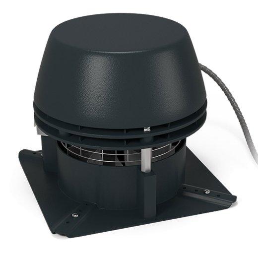 RS - Abgasventilator mit Axialflügel - 4-eckige Grundplatte