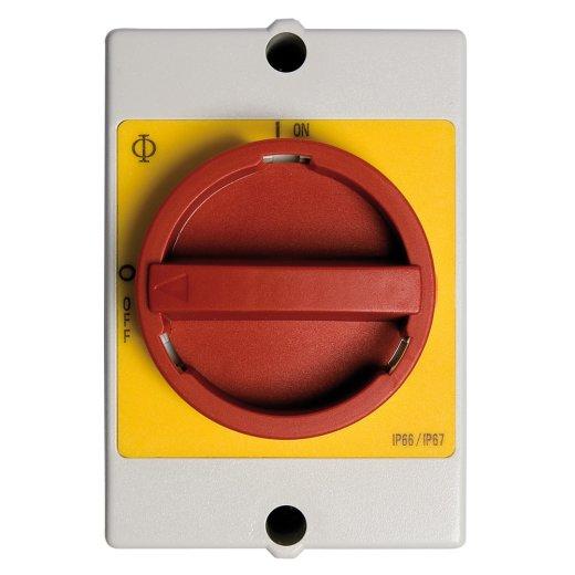 Wartungsschalter, 4-polig, mit potenzialfreiem Hilfskontakt - speziell für EFC18