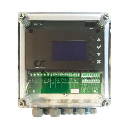 Abgasautomatik mit Konstantdruckregler, XTP-Sensor, Sicherheitsabschaltung, Digitalanzeige, LED Service Anzeige, für Außenmontage geeignet