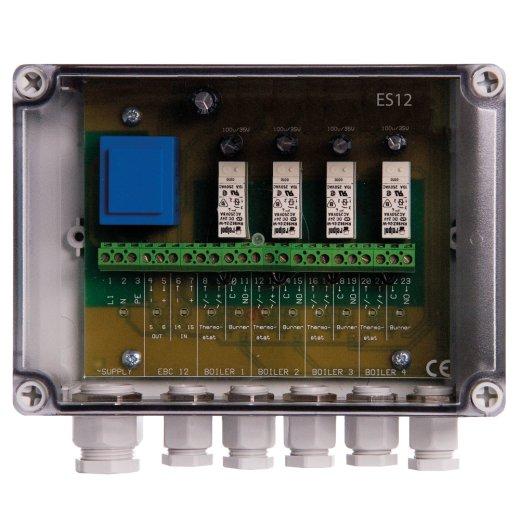 Relaisbox zum Anschluss von bis zu 4 Heizkesseln an eine Automatik EBC24 / EBC22